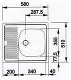 размеры квадратной мойки